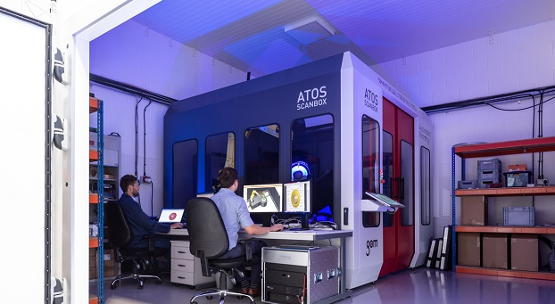 Automated ATOS ScanBox in environmentally controlled measurement cell