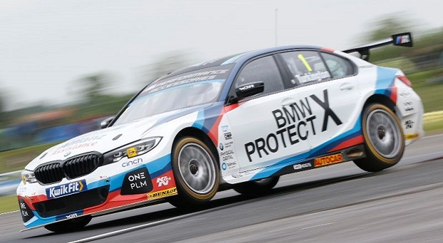 Colin Turkington, Team BMW BMW 330i M Sport, BTCC, Thruxton, UK